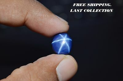 Ebay 100% Natural 6 Rays Royal Blue Star Sapphire Cabochon Gemstone 4 Carat.