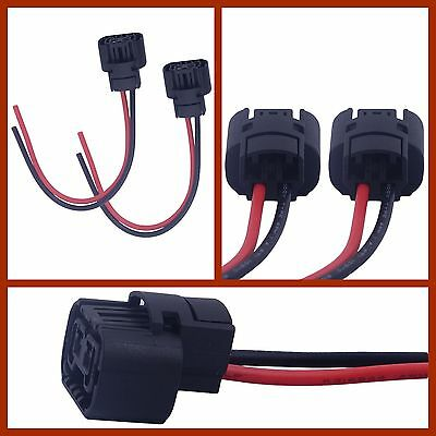 2x 5202 h16 2504 ps24w connector wire pigtail harness fog light chevy  silverado