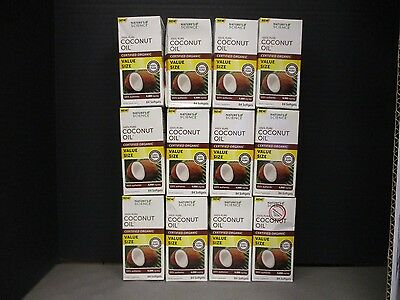 12 NATURES SCIENCE CERTIFIED ORGANIC COCONUT OIL 4000mg 84 EACH EXP 2/18 DE 6019