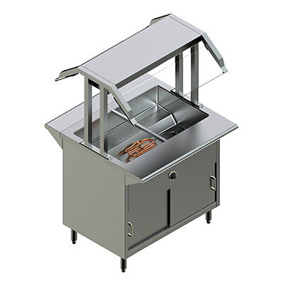 NEW RESTAURANT STAINLESS STEEL Electric Buffet Table MODEL PBTD 4E