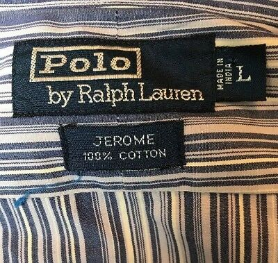 Polo By Ralph Lauren Shirt Size Large Very Cool Button Front Long Sleeve