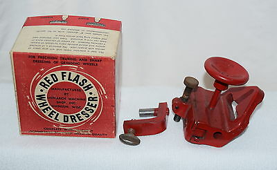 Vintage Red Flash  Wheel Dresser Monarch Machine