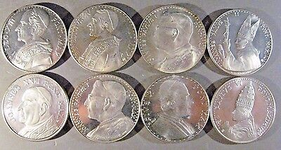 Vatican City Lot of 8 Different Medallions Depicting Popes**FREE U.S. SHIPPING**