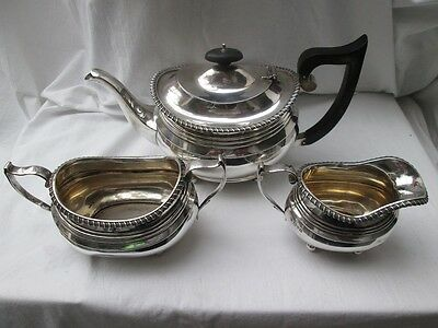 George V Silver Tea Set. Chester 1913.