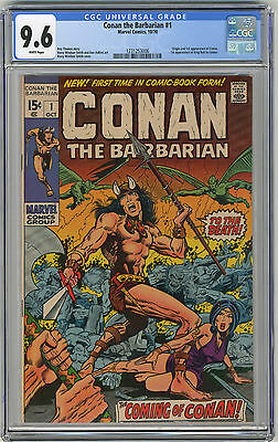 1970 Conan The Barbarian 1 CGC 9.6 White Pages
