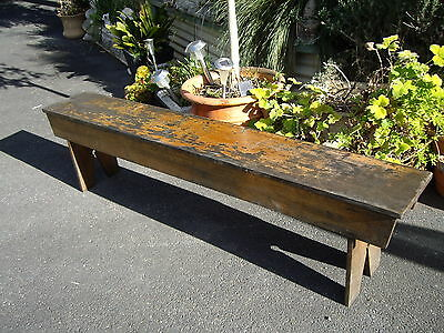 Vintage Rustic Timber 6 Ft School bench Veranda Deck Garden Patio