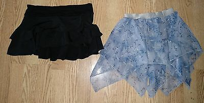 lot of 2 dance skirts size small
