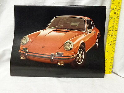 """1972 Porsche 911 Brochure Sheet, 8.5 x 11"""", 1 page, Specifications, Ex Cond"""