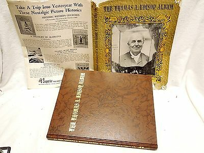 The Thomas A. Edison Album. L. Frost.  1969 First Edition Hardcover.