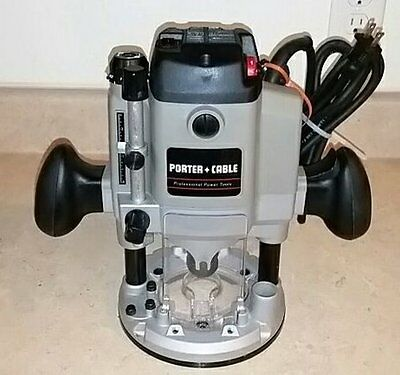 PORTER-CABLE #7529 2-Horsepower Heavy-Duty Variable Speed Plunge Router + Extras