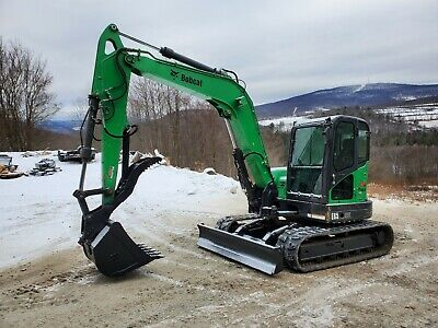 2014 Bobcat E63 Excavator Cab A/c Long Arm Hydraulic Thumb Ready To Work In Pa!