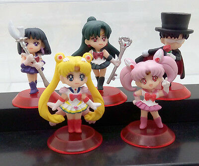 Japan anime Pretty Soldier Bishoujo Senshi Sailor Moon 5pc pvc figure set