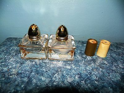 2 Sets of Vintage Salt and Pepper Shakers, one glass, one miniature