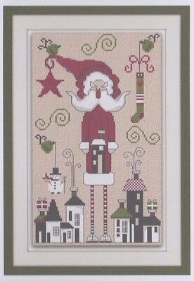 Santa Claus is coming to Town - cross stitch chart - Maggi Co's Village