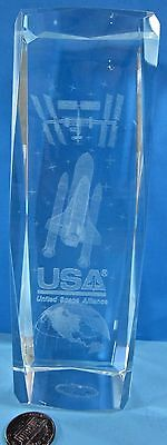 UNITED SPACE ALLIANCE employee 6 in Desk Display Paperweight Space Shuttle NASA
