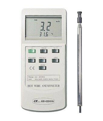 Lutron AM4204HA Multi-Function Anemometer With Temperature Hot Wire
