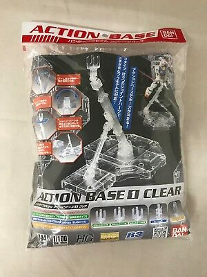 Bandai Hobby Action Base 1 Display Stand (1/100 Scale), Clear from Japan
