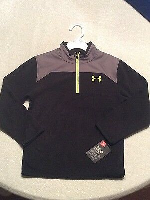 Under Armour Youth Boys Black & Yellow Fleece Pull-over Size 6 Youth