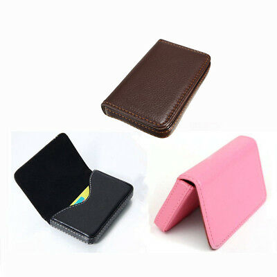 Waterproof Business ID Credit Card Wallet Holder PU Leather Pocket Case Box Fast