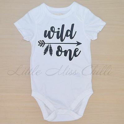 1st Birthday tribal wild one boys girls tee cake smash party bodysuit outfit