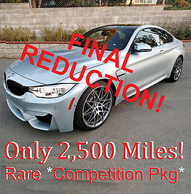 "2016 BMW M4 Competition Pkg 2016 M4 Competition Pkg. Coupe 2,500 Miles 20"" Wheels Calif."