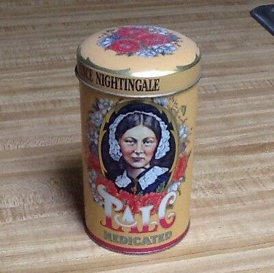 "Florence Nightingale  5-1/2"" Talc Tin! Gorgeous Graphics!"