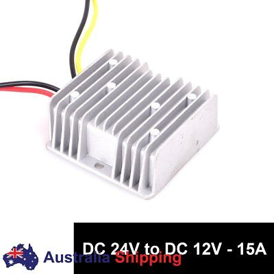 DC 24v to DC 12v Step Down 15A 180W Truck Car Power Supply Adapter Converter