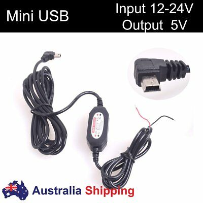 Car Hard-Wired Direct Wire Mini USB Charger Power Supply for Dash Cam DVR GPS