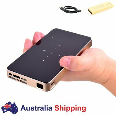 Mini Projector Mobile Pico Project LED DLP HDMI USB SD Multimedia Home Theater