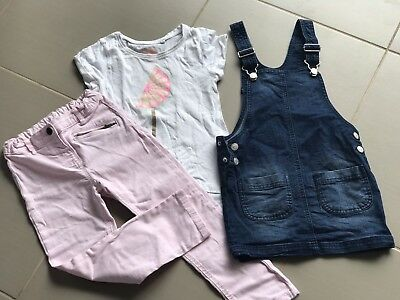 Girls Clothing Size 6 Pinafore, Jeans & T-shirt