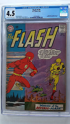 Flash #139 CGC 4.5 VG+    Origin 1st Appearance Reverse Flash