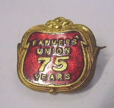 Vintage Farmers Union 75 Years Anniversary Badge South Australia