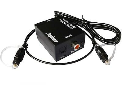 RCA Analog to Coaxial Optical Toslink Digital Audio Converter with Optic Cable