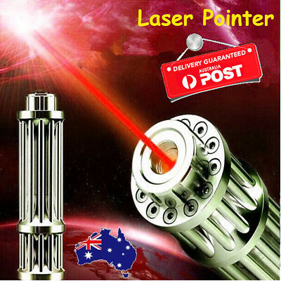 Military 532nm Red Laser Pointer Pen Powerful Beam Light Zoom Focus 16340