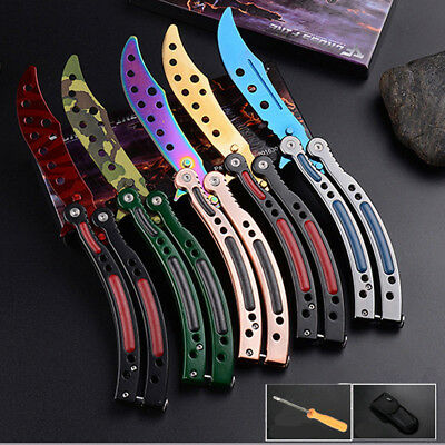 Cool Blunt Butterfly Practice Knife Dull Knife Trainer Training Practice Tool US