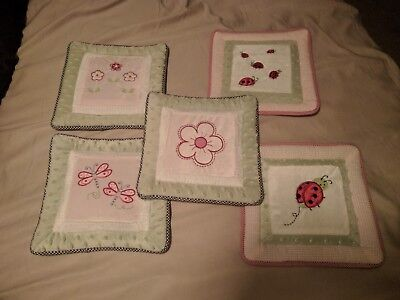 L@@K! Kidsline Tiddliwinks Ladybug Set of 5 Wall Hanging Decor RARE L@@K!