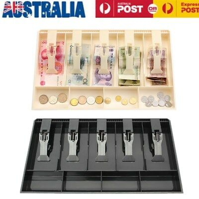 Cash Coin Register Replacement Money Drawer Storage Box 5 Bill 4 Coin Trays AU