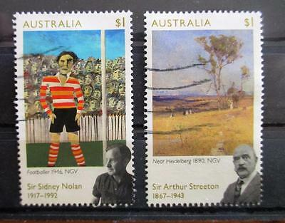 Australia 2017  Streeton & Nolan 2 stamps good used