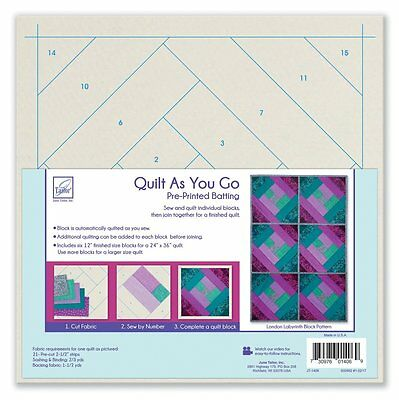 June Tailor London Labyrinth - Quilt As You Go Batting, Acrylic, Multicolour
