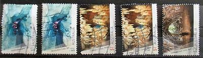 Australia 2017  Caves 5 stamps good used