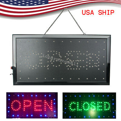 Ultra Bright LED Neon Light  OPEN/Closed Business Sign Display Neon 8W USA Stock