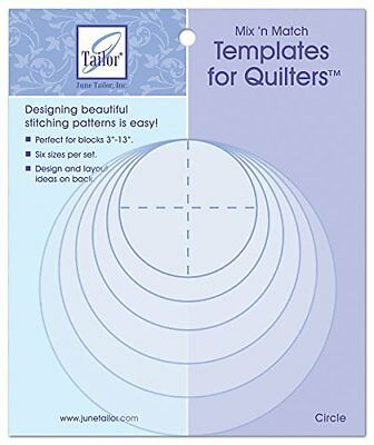 June Tailor Mix N Match Templates For Quilters 6/Pkg Circles