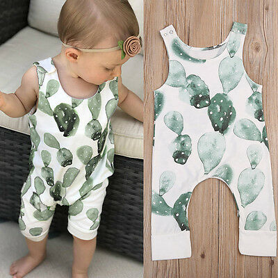 Infant Baby Girl Boy Cactus Romper Bodysuit Jumpsuit Outfit Playsuit Clothes