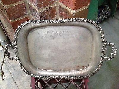 Silver Serving Tray (silver plate)