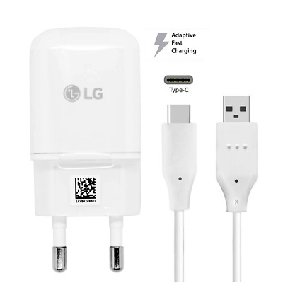 Original EU Fast Charger Adapter Adaptive For LG G5 G6 V20 + Type-C Data Cable