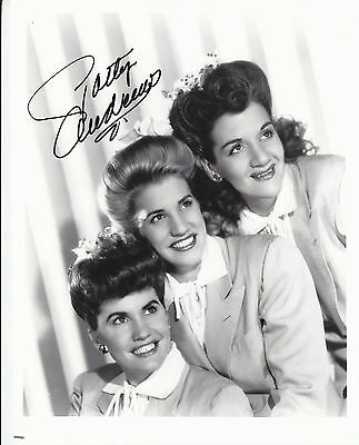 PATTY ANDREWS (1918-2013) signed photo photograph autographed ] wearing white