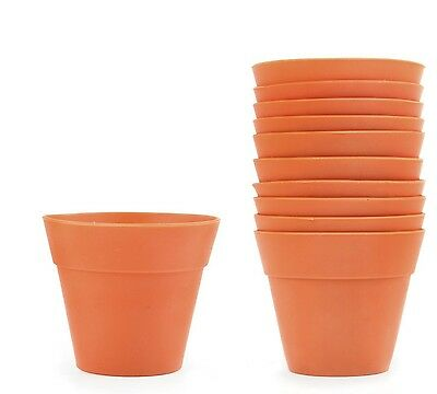 Kikkerland 10 Silicone Flower Pot Baking Cups Oven & Freezer Safe Cupcake Molds