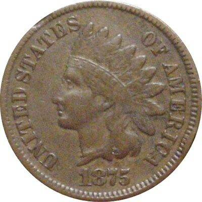 1875 Indian Cent--Fine+