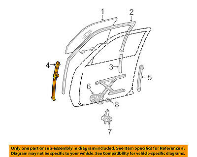 toyota oem 02 06 camry front door shell frame panel left 67002aa053 rh picclick com Toyota Camry Body Diagram 2000 Toyota Camry
