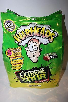 WARHEADS EXTREME SOUR Hard Candy 5 Assorted Flavours 280 Pieces 907g bag